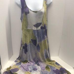Rabbit Designs Dress Women's Size 14 M floral